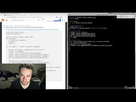 George Hotz | Programming | Sending A Transaction With BITCOIN CASH From SCRATCH | Part1