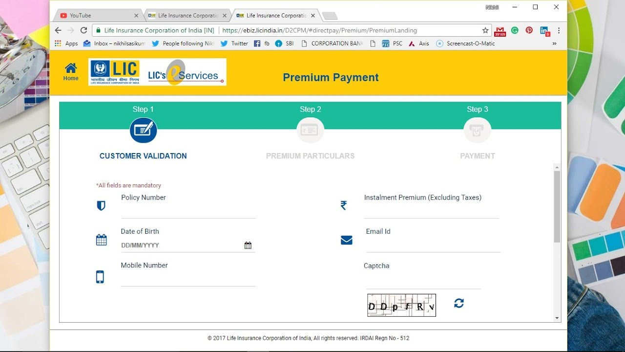 how to pay lic insurance through online
