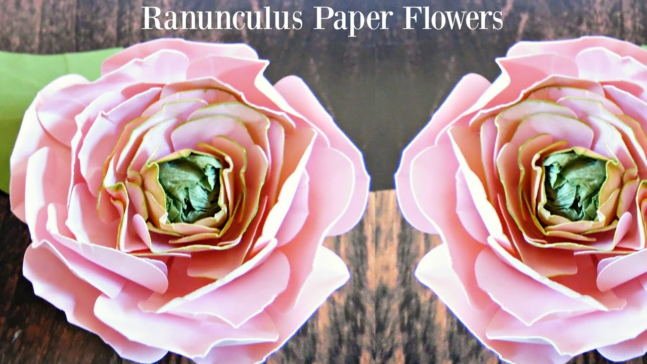 Ranunculus paper flower how to diy paper flowers youtube mightylinksfo