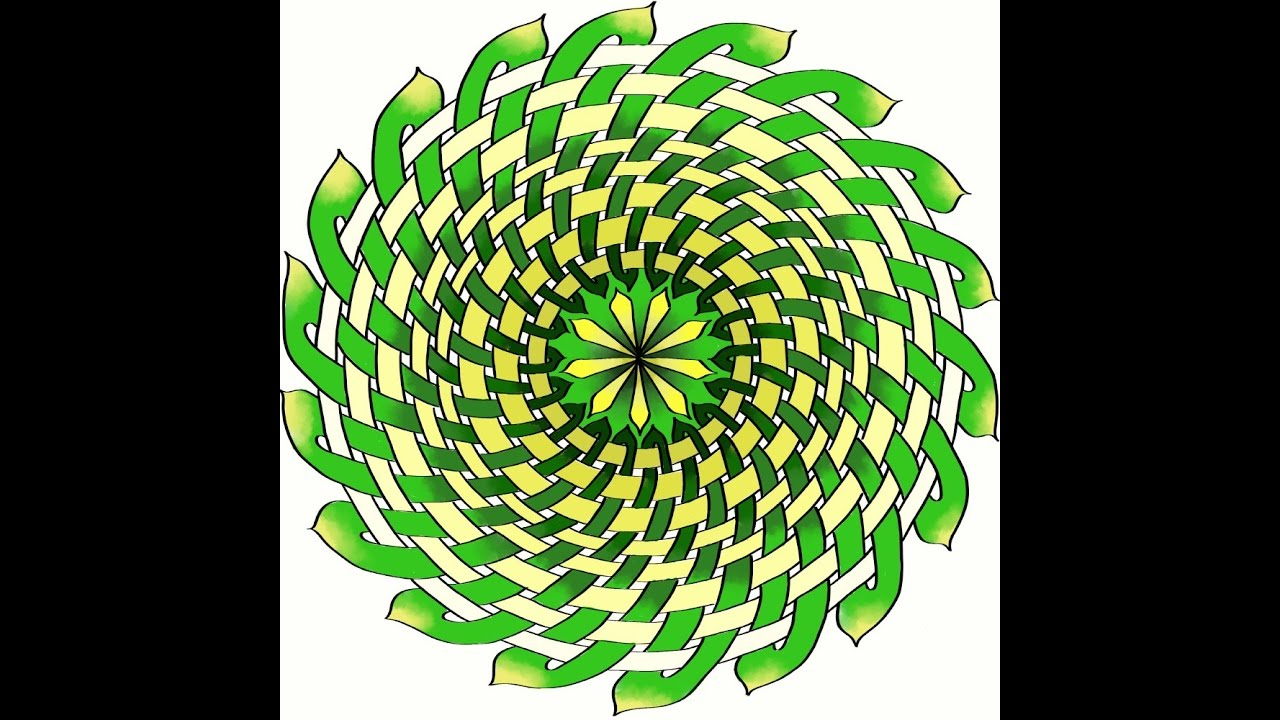 Simple Method - How To Construct Celtic Knot Mandalas - Graphs with Dots  Method