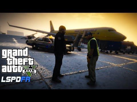 GTA 5 LSPDFR - Airport  Snow  Patrol - Jet Hijacking