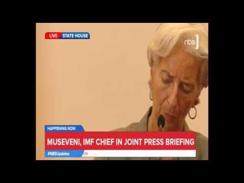 IMF Chief Christine Lagarde and President Museveni Presser