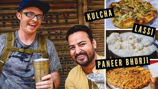 North Indian BREAKFAST STREET FOOD Tour in AMRITSAR, India | Amazing PUNJABI FOOD with Local Guide!