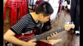 solo drum & slap bass