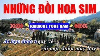 Những Đồi Hoa Sim Karaoke Nhạc Sống Tone Nam Rumba | Hoàng Dũng Karaoke
