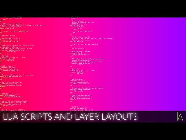 Lua scripts and Layer Layouts | Lightact