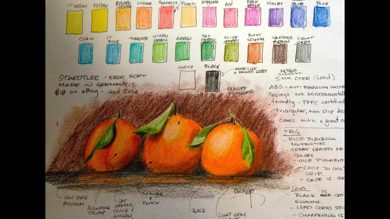 Colouring pencils for adults reviews - Staedtler Ergosoft Pencils Review