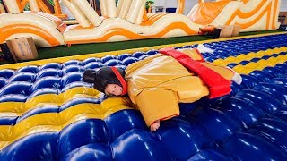 Fun Sumo Suits for Kids at Indoor Playground