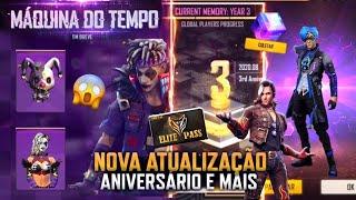 AMANHÃ! NOVA ATUALIZAÇÃO DO FREE FIRE, EVENTO DE ANIVERSÁRIO, SKINS GRÁTIS, SUPERMERCADO 7.0 E MAIS!