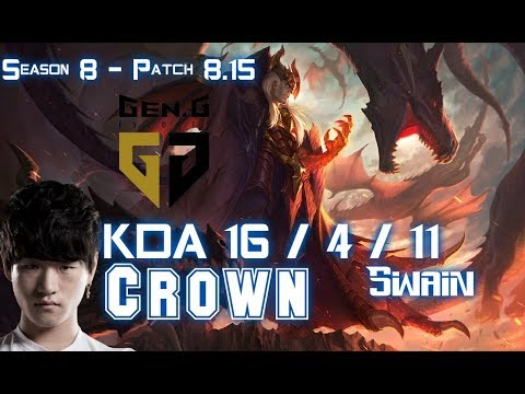 GEN Crown SWAIN vs LEBLANC Mid - Patch 8.15 KR Ranked