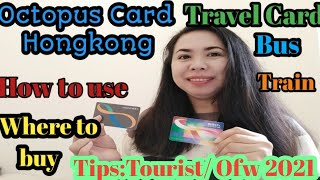 How to use aฑ Octopus Card in Hongkong. Travel Card, Debit Card, and a universal card.