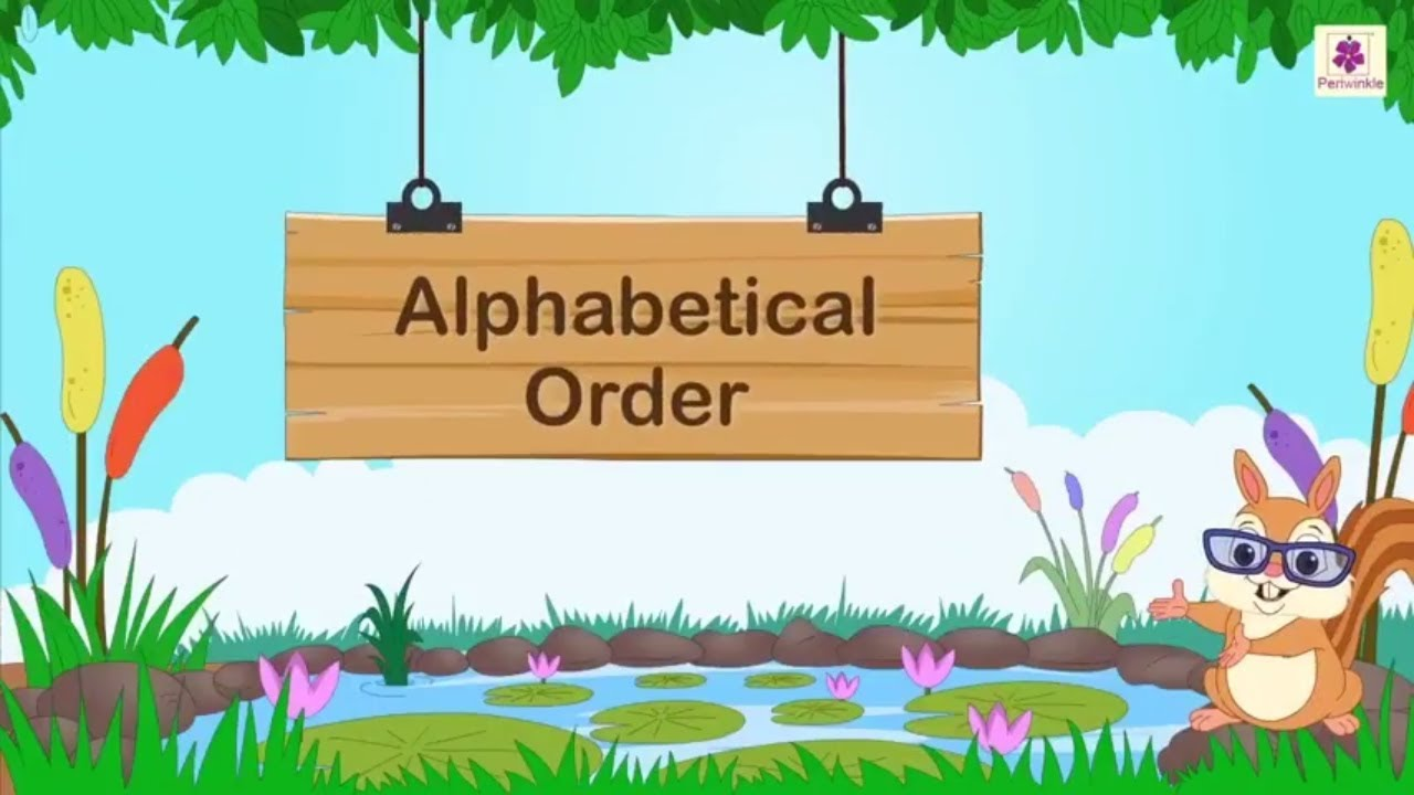 hight resolution of How To Arrange Words In Alphabetical Order   English Grammar   Periwinkle -  YouTube