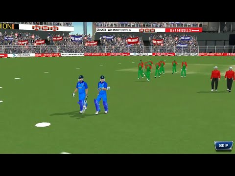 FInal 18th March Tri series T20 Match India Vs Bangladesh Real Cricket 18 Gameplay