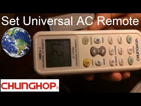 How to set universal remote control codes with Panasonic Air