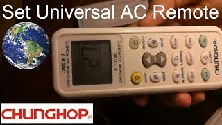 How to set universal remote control codes with Panasonic Air Conditioner | Chunghop K-1028E