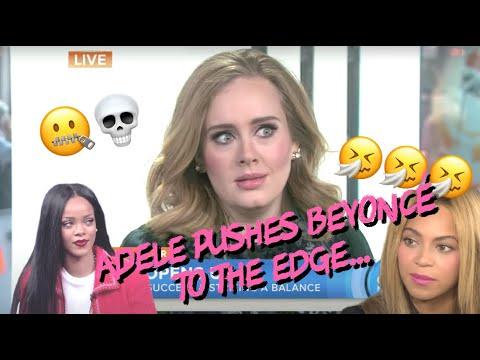 Beyonce finally chats w/ Adele about 2017 Grammy's (w/ Rihanna)