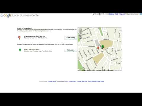 Google South African Maps How to: Local Business Centre