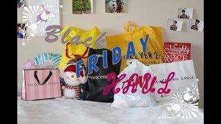 TRY ON 2018 HUGE Black Friday Haul - FOREVER 21,  H&M, VICTORIA SECRET, FRANCESCA'S, AMERICAN EAGLE