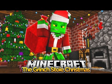Minecraft Movie - THE GRINCH STOLE CHRISTMAS - Baby Duck Adventures