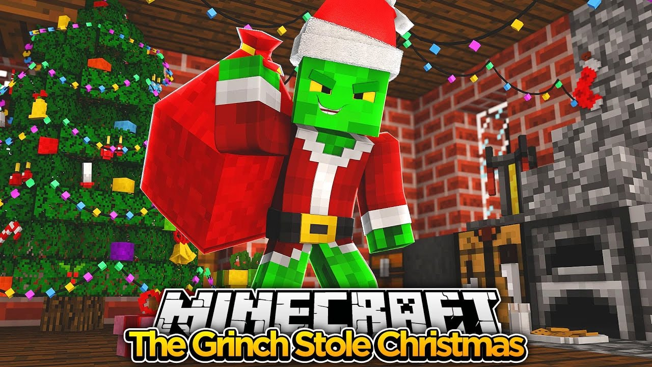 Minecraft Movie - THE GRINCH STOLE CHRISTMAS - Baby Duck ...