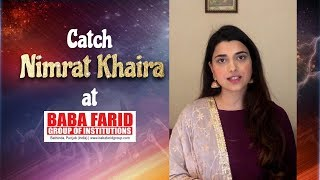 Catch Nimrat Khaira live at Vibgyor 2k19 | BFGI Bathinda