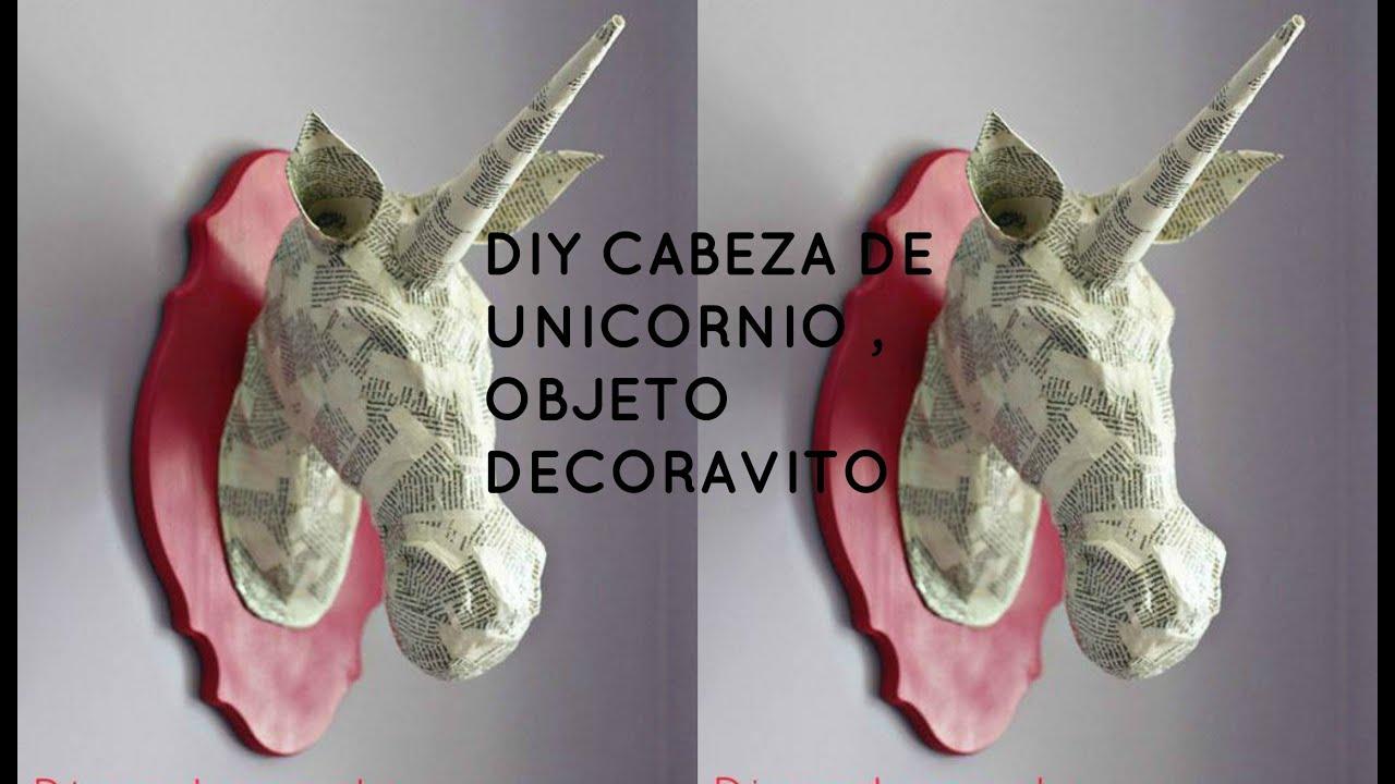 DIY cabeza de unicornio/ Objeto decorativo - YouTube