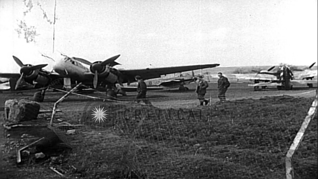German aircraft at abandoned airfield in Germany after end ...