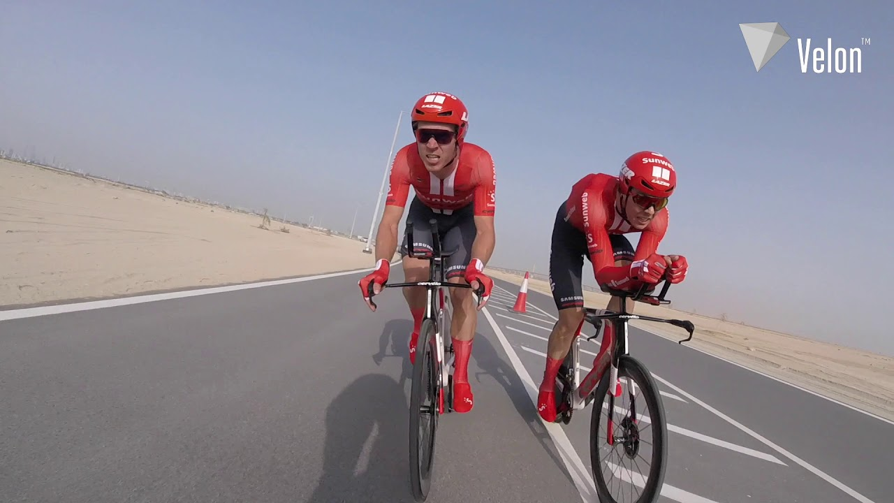 UAE Tour 2019: On-bike action from the TTT - YouTube