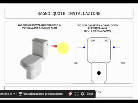 Bagno Principali misure per una corretta posa delle tubazioni di acqua fredda calda e scarichi