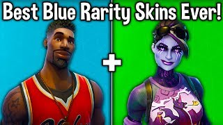 10 BEST 'RARE' SKINS OF ALL TIME! (Fortnite Best Blue Rarity Skins)