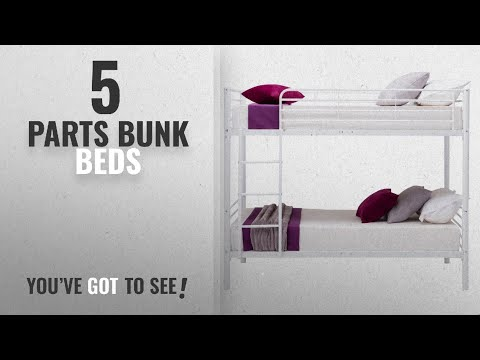 Top 10 Parts Bunk Beds [2018]: mecor Twin over Twin Metal Bunk Beds Frame Kids /Adult Bedroom