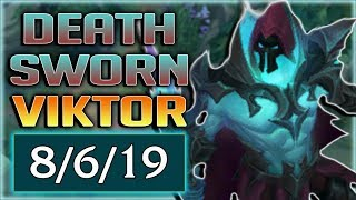 NEW DEATH SWORN VIKTOR SKIN IS AWESOME!! I FINALLY LOSE MY MIND PLAYING THIS GAME - PBE