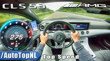 Mercedes-AMG CLS 53 4MATIC  AUTOBAHN POV 276km/h TOP SPEED by AutoTopNL