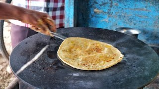 Hardworking Indian Family Selling Aloo Paratha For 20 Rs. | Road Side Veg Meal | Indian Street Food