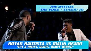 """Bryan Bautista vs Malik Heard: """"It's a Man's, Man's, Man's World"""" (The Voice Season 10) Part 1/2"""