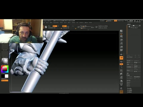 3D Sculpting for 3D Printing Miniatures E053  Polearm Master