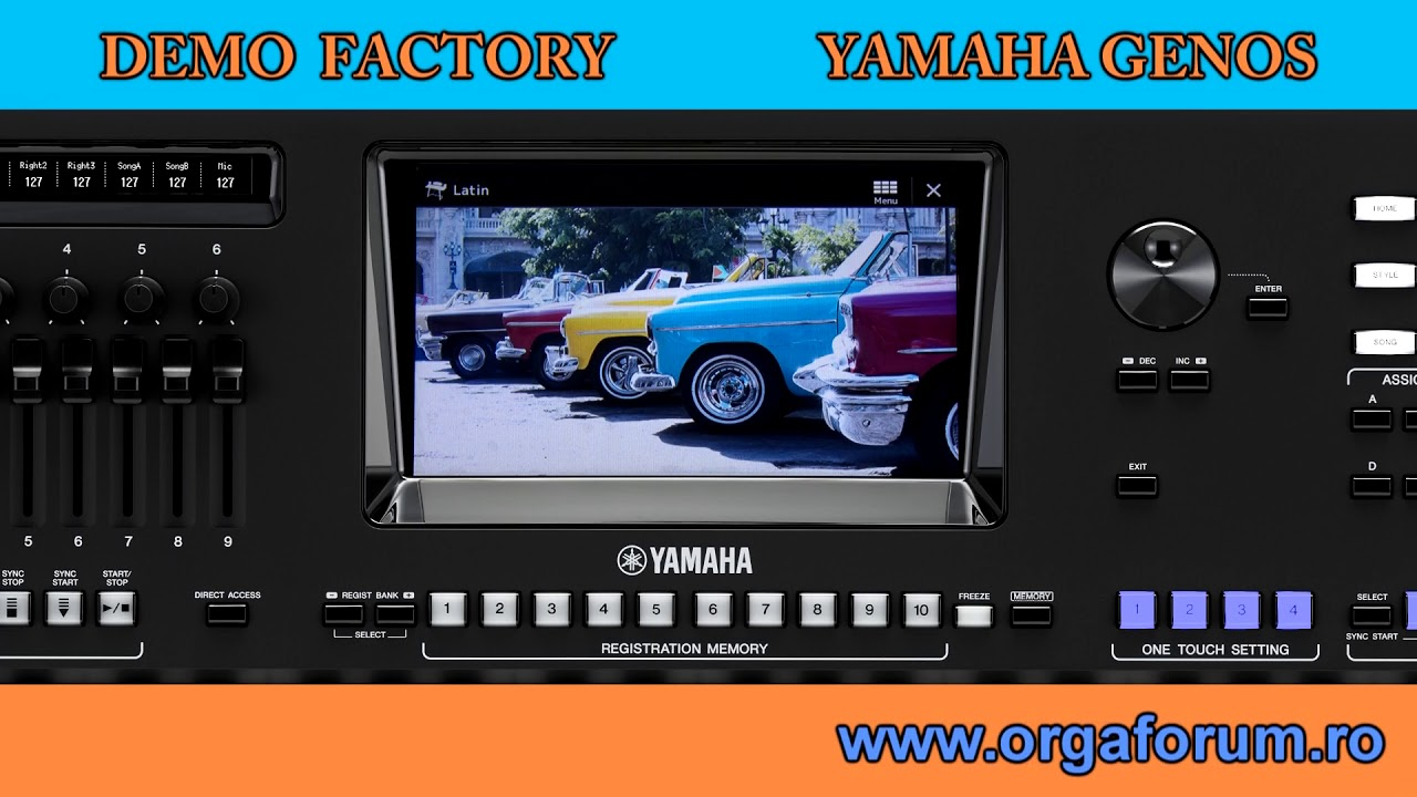 Yamaha Genos Demo All Factory Youtube Vcm 40 Drum Switch New Style