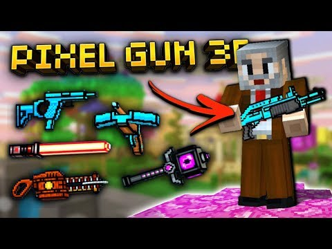Using All OLDEST Weapons In Pixel Gun 3D!!