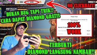 Cara Mendapatkan Diamond Gratis Tanpa Uang Dan Pulsa Event Rahasia Free Fire!!!