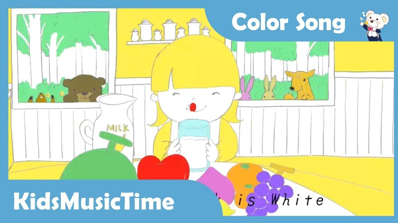 color song for children learn names of colors and fruits