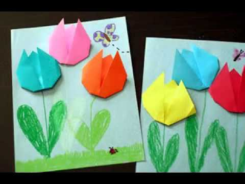 Easy paper folding crafts ideas - YouTube