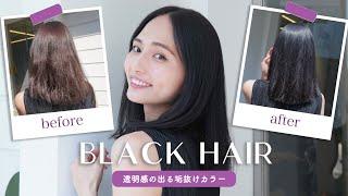 【ヘアカラー】黒髪にしてきました!黒髪の垢抜け方法も紹介します🖤