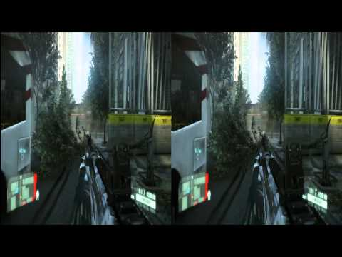 Exclusive Crysis 2 Gameplay 3 Stereoscopic Side-by-Side 3D