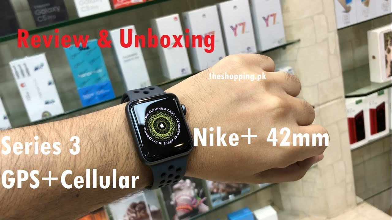 Apple Watch Nike+ series 3 42mm Gps+Cellular Space Gray MQLD2