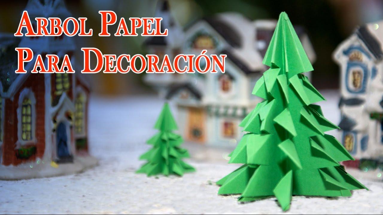 Decorar Arbol Navidad En Papel.Arboles De Papel Origami Faciles Baratos Para Decorar Y Navidad