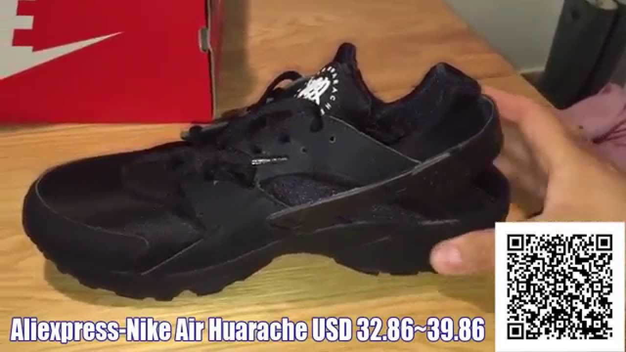 4319b24c5f8b Triple Black Nike Air Huarache Trainers Review Aliexpress Nike Air Huaraches  - YouTube
