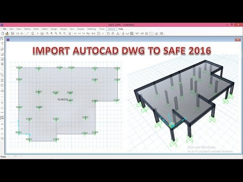 How To Import A Drawing From Autocad To Safe 2016