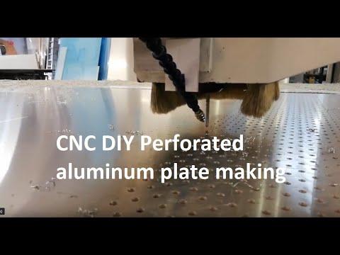CNC DIY Perforated aluminum plate making