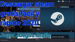 Como descargar Steam 2020, juega juegos gratis y de paga en pc