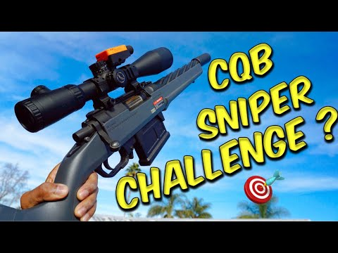 Airsoft Quickie: CQB Airsoft Sniper Challenge | Indoor Sniper Gameplay (The Airsoft Life #30)
